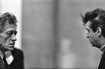 Francis Bacon und Alberto Giacometti, Silbergelatineabzug, Foto: Graham Keen