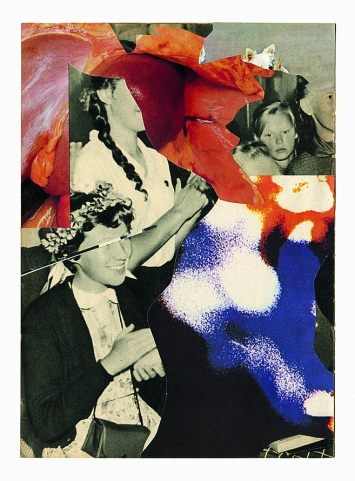 Barbara Breitenfellner · WVZ 409, 2016, Collage und Sérigraphie