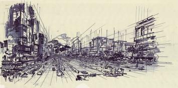 Otto Glaus · Skizze Sihlraumplanung, Sechzigerjahre, gta Archiv