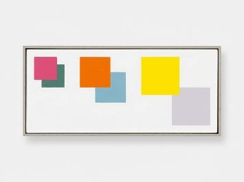 Jean-Frédéric Schnyder · kleine Bilder (Detail), 2015–2019, Öl auf Sperrholz, gerahmt; 6-teilig, Y3: 12x26cm, Courtesy Galerie Eva Presenhuber