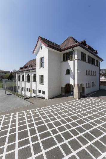 Alex Hanimann, Raster, Kunst im öffentlichen Raum der Stadt St. Gallen, Fotografie: Anna-Tina Eberhard, St.Gallen