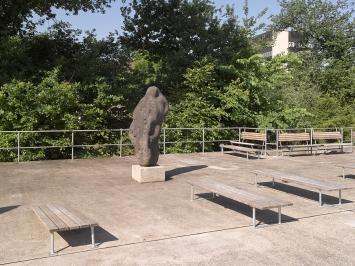 Hans Aeschbacher, «Vénus de Six-Fours», 1952, Flussbad Oberer Letten, Fachstelle Kunst und Bau, Amt für Hochbauten, Stadt Zürich, Foto: Marc Lendorff