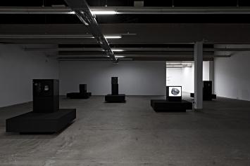 Esther Hunziker · Hi there, Ausstellungsansicht Kunsthaus Baselland 2018. Foto: Gina Folly