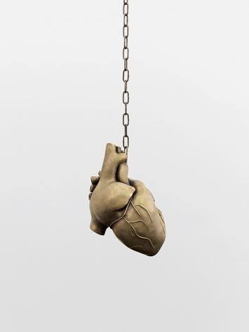 Mai-Thu Perret · Eventail des caresses (Cœur), Bronze, 2018.Foto: Annik Wetter