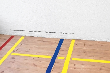 Philip Ullrich · takes two to tango, 2020, Ausstellungsansicht Hamlet, Zürich (Detail).Foto: Flavio Karrer