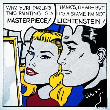 Yuri Albert · Ich bin nicht Lichtenstein, 1990