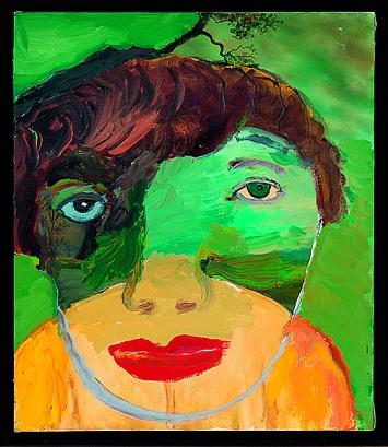 Margot Bergman · Lee, 2001, Acryl auf Leinwand
