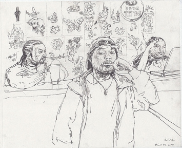 Christoph Fischer · Chicago Westside, 2011, Bleistift, Papier ©ProLitteris