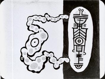 Len Lye · Tulsalava, ca. 1929, 1/12 einer Fotoserie, ca. 20x25 cm, Filmstill