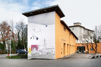 Lena Eriksson · Tag und Nacht freihalten, 2020, Jahresaussenprojekt, Kunsthaus Baselland. Foto: Gina Folly