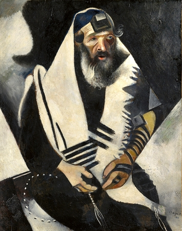 Marc Chagall · Der Jude in Schwarz-Weiss, 2014, Kunstmuseum Basel, Copyright Succession Picasso ©ProLitteris