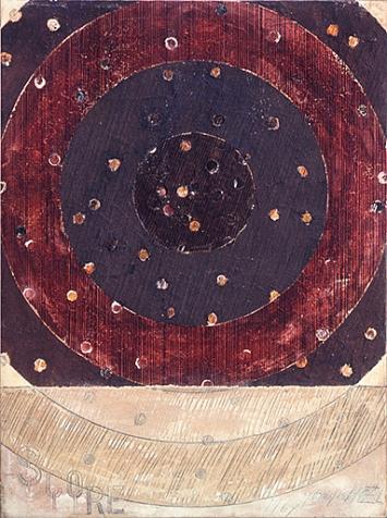 Georges Noël · Score, 1967, Mischtechnik auf Leinwand, 130x97cm