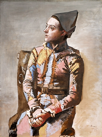 Pablo Picasso · Arlequin assis, 1923, Kunstmuseum Basel, Copyright Succession Picasso ©ProLitteris