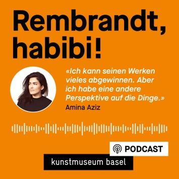 Visual Podcast mit Zitat von Amina Aziz