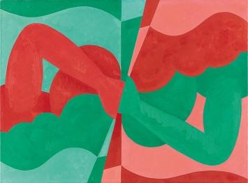 Aldo Solari · Wende in Chromgrün und Kadmiumrot dunkel, 2011, Öl auf Leinwand, 60x81cm.Foto: Serge Hasenböhler
