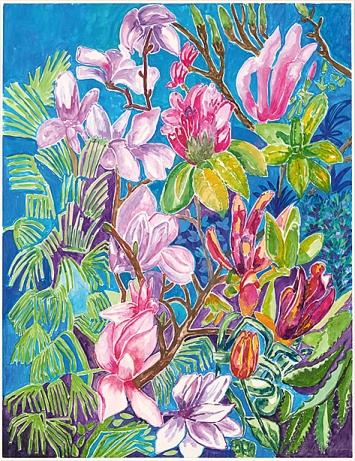 Eliška Bartek · Il mio Paradiso III, 2020, Aquarell auf Papier, 64x56cm