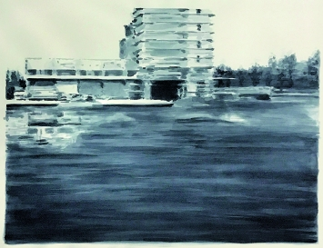 Pascal Danz · Passage, 2001, Aquarell auf Naturbütten, 80x100cm
