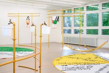 Olivia Wiederkehr · substrate-positions #1–18, Ausstellungsansicht, Pavillon Tribschenhorn, Luzern, 2020.Foto: Sebastian Mayer