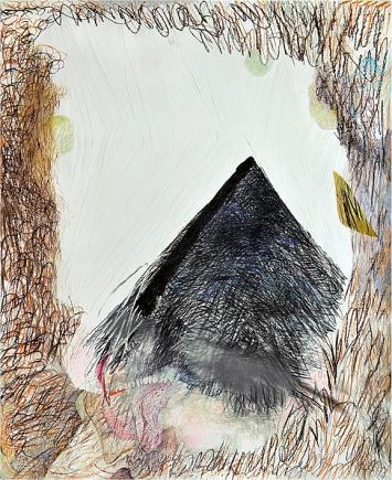 Bettina Carl · Luchs, 2020, aus der Werkgruppe ‹Einsilbige Tiere›, Pastellkreide und Kohle auf Papier, 150x122cm ©ProLitteris