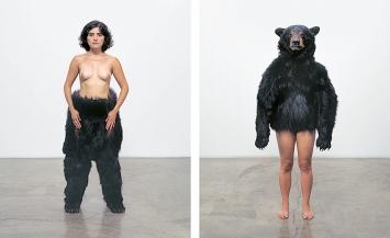 Fernandez Carlee, Bear Study Diptych, 2004, C-Print, je 51x41cm. Privatbesitz