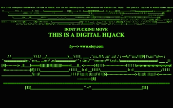 etoy · Digital Hijack, 1996, Screenshot