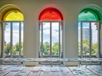 Banu Cennetoğlu · A problematic triad?: Yellow Red Green?, 2015/2019, Installationsansicht Kunstsammlung Nordrhein-Westfalen K21.Foto: Achim Kukulies