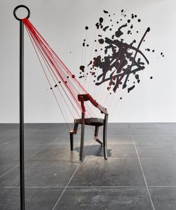 Yves Netzhammer · Adressen unmöglicher Orte, 2009/2019, Installation, Ausstellungsansicht Frankfurter Kunstverein.Foto: Norbert Miguletz