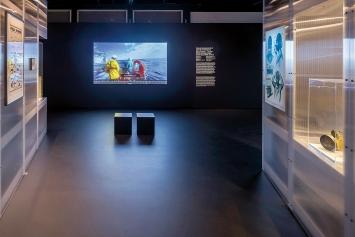 Forensic Oceanography& Forensic Architecture · Mare Clausum– The Sea Watch vs. Libyan Coast Guard Case, 2018, Ausstellungsansicht Zeppelin Museum.Foto: Markus Tretter