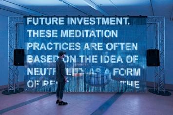 Riccardo Benassi · Morestalgia, 2019, Installationsansicht CAC, Genève.Foto: Andrea Rossetti