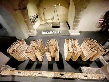 Stefano Boccalini · La ragione nelle mani, 2021, Ausstellungsansicht, Maison Tavel, Genf