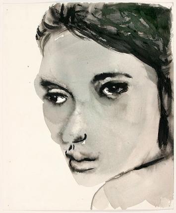 Marlene Dumas · Female, 1992–92, Tusche auf Papier, Sammlung Garnatz