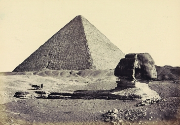 Francis Frith · Sphinx und Grosse Pyramide in Gizeh, 1856/59, Public Domain, Rijksmuseum Amsterdam