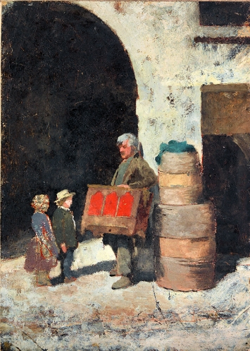 Charles Nègre · Der Leierkastenspieler, 1853, Staatliche Kunsthalle Karlsruhe