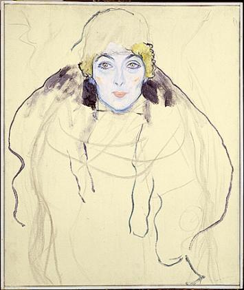 Gustav Klimt · Frauenkopf, 1917, Öl auf Leinwand, 67x56cm, Courtesy Lentos Kunstmuseum Linz.Foto: Reinhard Haider