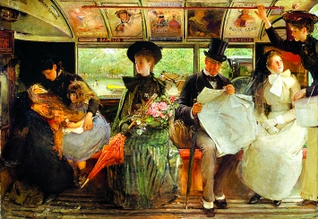 George William Joy · The Bayswater Omnibus, 1895, Öl auf Leinwand, 120 x 172,5 cm, Museum of London