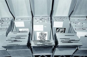 Kurt Wyss · Le Grand Fichier, Sekretariat, Rue de Verneuil, Paris, 2.10.1970 ©ProLitteris, Archives Fondation Dubuffet, Paris