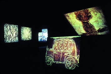 Jean Dubuffet · L'exposition lumineuse, Palazzo della Promotrice delle Belle Arti, Turin, 1978 ©ProLitteris, Archives Fond. Dubuffet, Paris