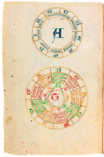 Ramon Llull · Ars compendiosa inueniendi ueritatem, 14. Jh., Bodmer Foundation Cologny und e-codices Virtual Manuscript Library