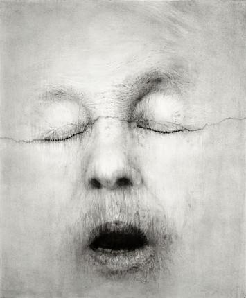 Guy Oberson · Alice Neel d'après Mapplethorpe, 2017 (Courtesy Galerie C, Neuchâtel)