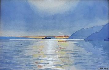 Oskar Binz · Bielersee, Aquarell, 1925