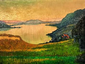 Ernst Geiger · Herbstabend am Bielersee, 1915