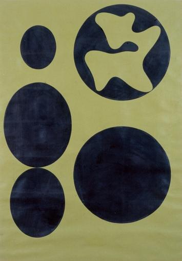 Hans Arp · Constellation (Ronco dei Fiori), 1961, Öl auf Papier, 110x79cm, Fondazione Marguerite Arp ©ProLitteris.Foto: Atelier ACR