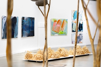 Barbara Gwerder, Ausstellungsansicht Kunsthalle Luzern.Foto: Kilian Bannwart