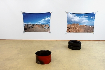 Stephan Wittmer · House, Clouds and… (I & II) 2019/ 2021, Pigmentdruck auf Textilgewebe (Plüsch), 150x200cm, Unikat