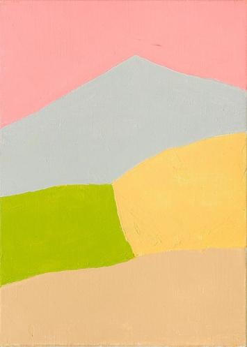 Etel Adnan · Ohne Titel, 2015, Öl auf Leinwand, 33 x 24 cm, Courtesy Galerie Lelong & Co