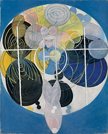 Hilma af Klingt · Series WU/Rosen, Group III, No. 5, The Key to All Works to Date, 1907, Courtesy Hilma af Klint Foundation. Foto: Moderna Museet, Stockholm