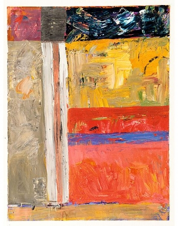 Kurt Oskar Weber · Time Square, 2004, Öl auf Papier, 140 x 100 cm