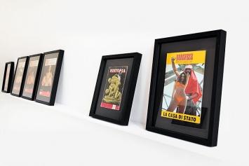 Renaud Auguste-Dormeuil · Uncover, 2013 (Serie), Rahmen, bearbeitete Zeitschriften, Courtesy Galerie In Situ, Paris – Fabienne Leclerc