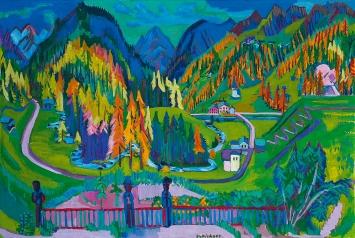 Ernst Ludwig Kirchner · Sertigtal im Herbst, Davos, 1925/26, Öl auf Leinwand, 136x200cm, Kirchner Museum Davos