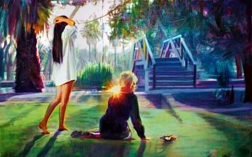 Nina Childress · Cher, pont, 2019, Öl auf Leinwand, 100x160cm, Courtesy Galerie Bernard Jordan ©ProLitteris